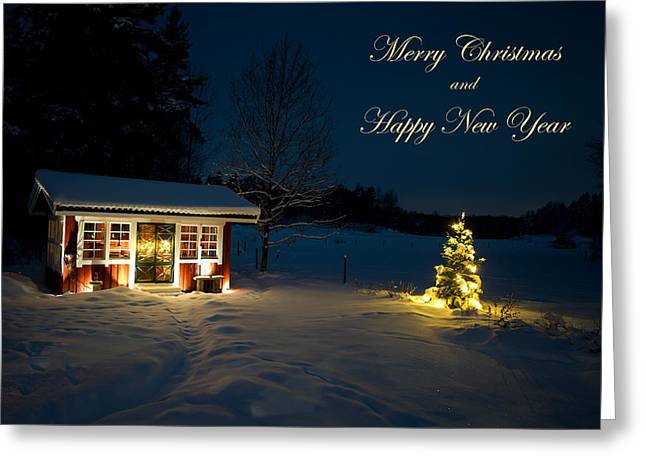 Christmas Night  Merry Christmas And Happy New Year Greeting Card by Torbjorn Swenelius