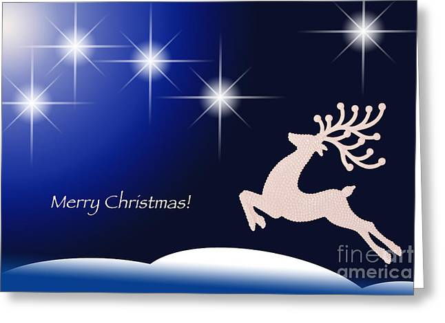 Christmas Night Greeting Card