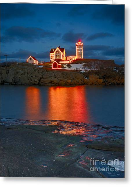 Christmas Nubble Greeting Card by Steven Ralser
