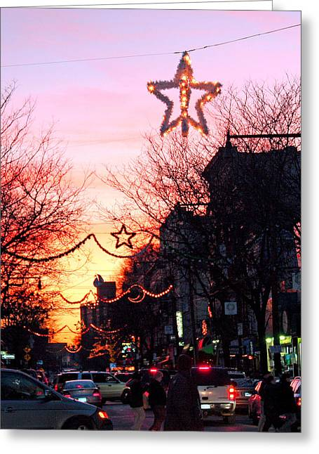 Greeting Card featuring the photograph Christmas On Arthur Avenue by Aurelio Zucco
