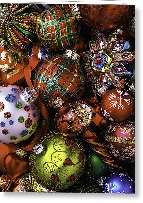 Christmas Ornament Collection Greeting Card by Garry Gay