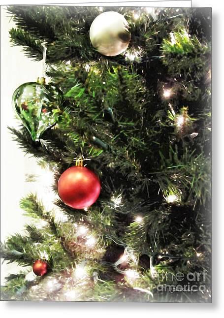 Christmas Ornaments Greeting Card by Joan  Minchak