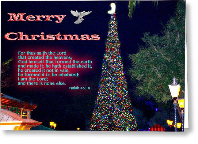 Christmas Peace - Christmas Calm Greeting Card by Terry Wallace