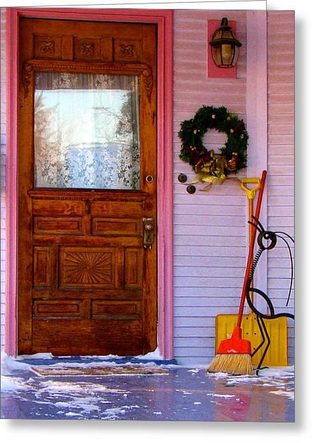 Christmas Pink Greeting Card