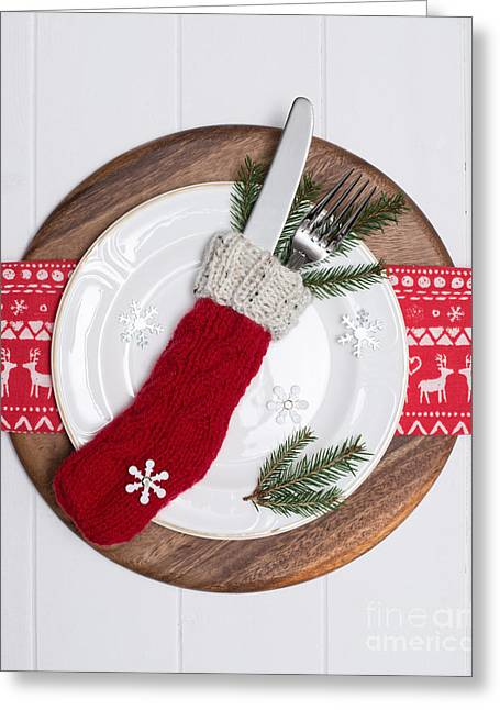 Christmas Place Setting Greeting Card