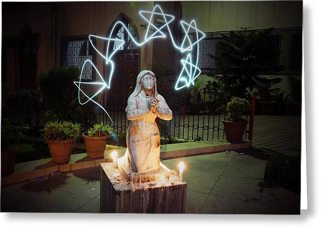 Christmas Prayers Greeting Card by Money Sharma