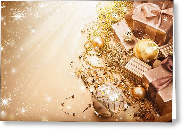 Christmas Presents Greeting Card by Doc Braham