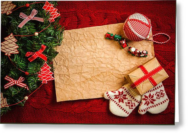 Christmas Presents For The Baby Greeting Card by Doc Braham