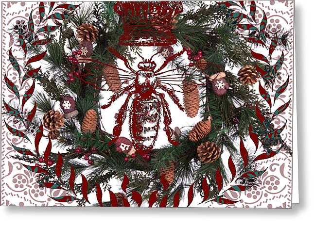 Christmas Queen Bee Greeting Card