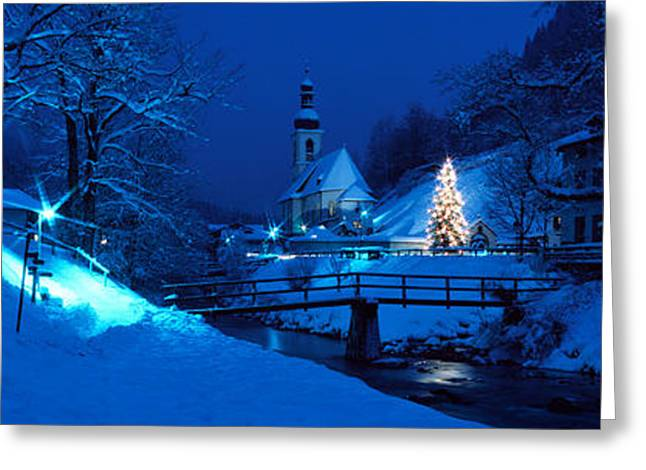 Christmas Ramsau Germany Greeting Card by Panoramic Images