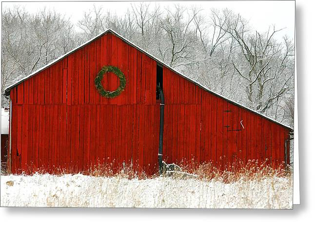 Christmas Red Greeting Card by Clare VanderVeen