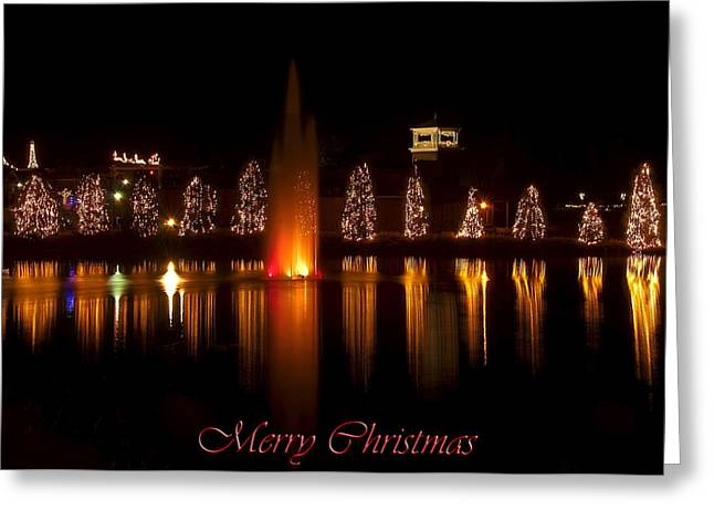 Christmas Reflection - Christmas Card Greeting Card