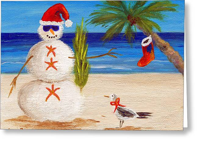 Christmas Sandman Greeting Card by Jamie Frier