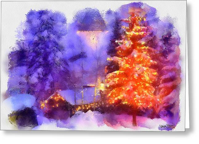 Greeting Card featuring the painting Christmas Scenes 1 by Wayne Pascall