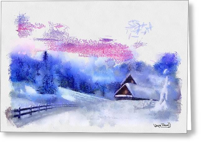 Christmas Scenes 4 Greeting Card by Wayne Pascall