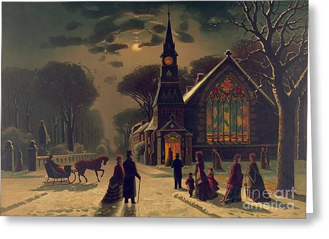 Christmas Service 1878 Greeting Card