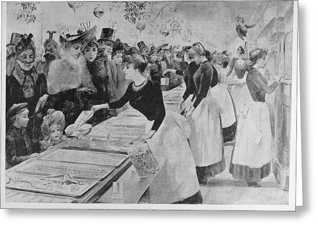 Christmas Shopping, 1891 Greeting Card by Granger