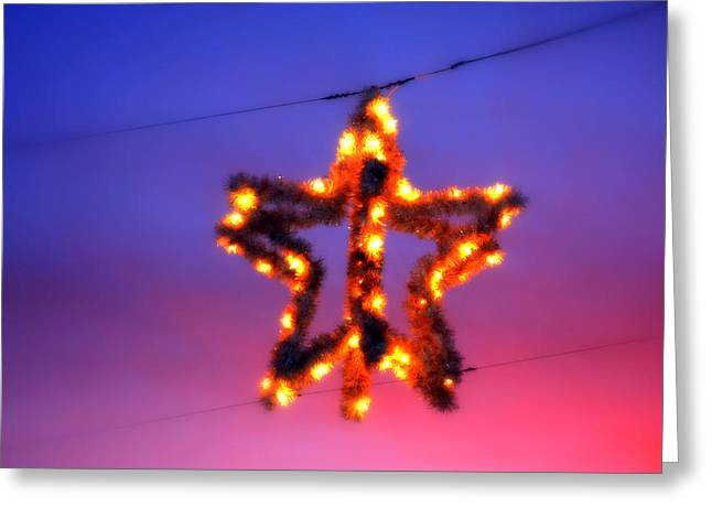 Greeting Card featuring the photograph Christmas Star by Aurelio Zucco