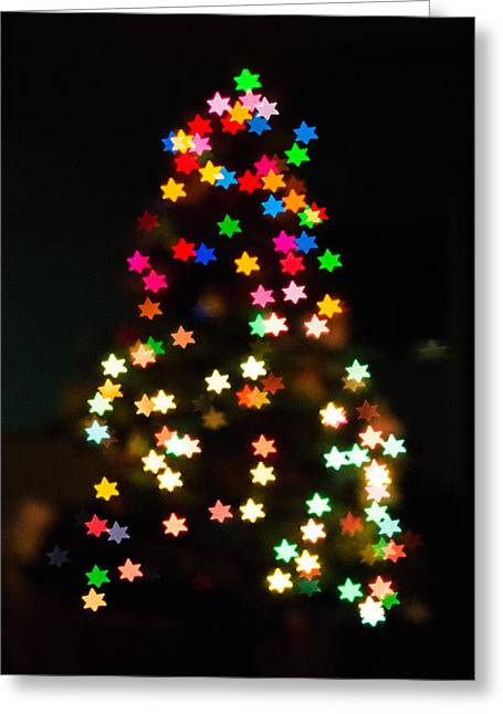 Christmas Stars Greeting Card by Mike Lee