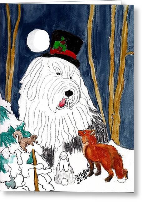 Christmas Story Teller Greeting Card
