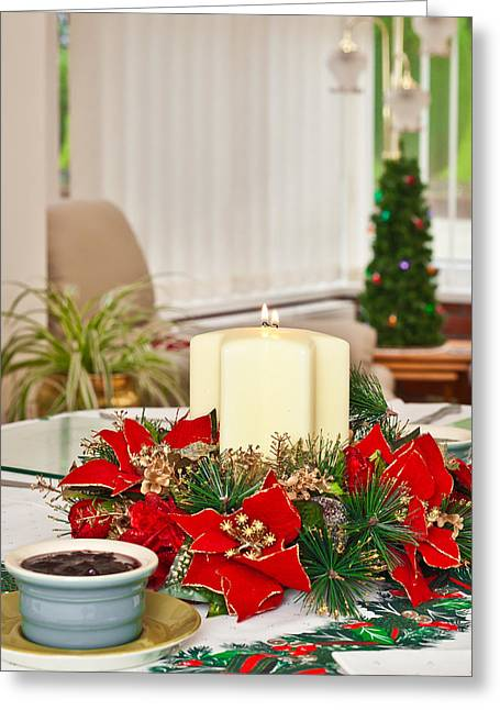 Christmas Table Greeting Card