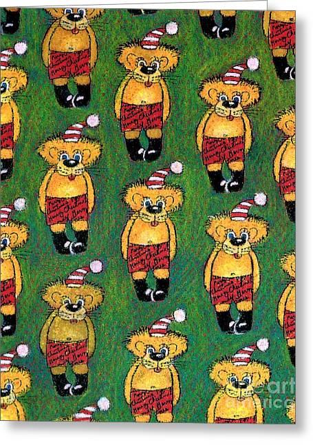 Christmas Teddies Greeting Card by Genevieve Esson