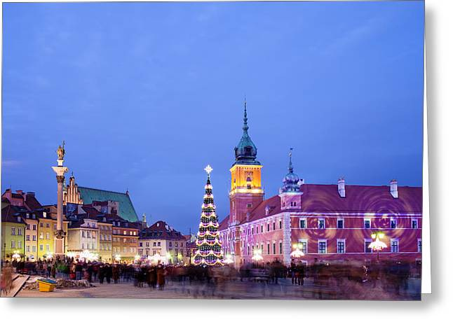 Christmas Time In Warsaw Greeting Card by Artur Bogacki