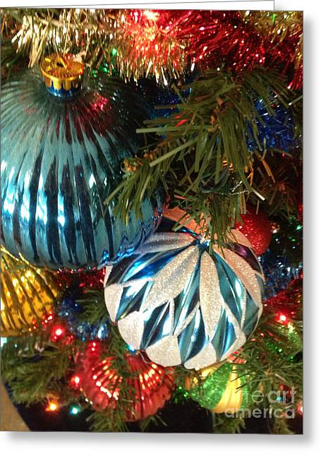 Christmas Time Greeting Card by Janet Felts