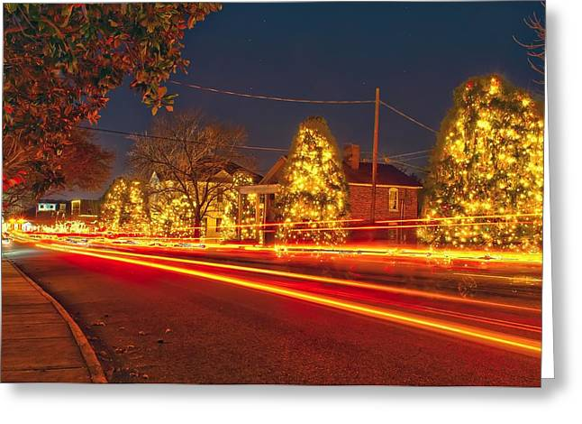 Greeting Card featuring the photograph Christmas Town Usa by Alex Grichenko