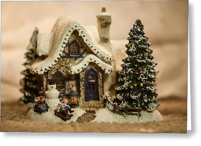 Greeting Card featuring the photograph Christmas Toy Village by Alex Grichenko