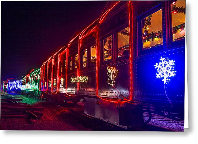 Christmas Train Greeting Card by Garry Gay