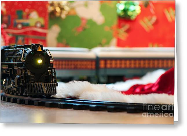 Christmas Train II Greeting Card by Eddie Yerkish