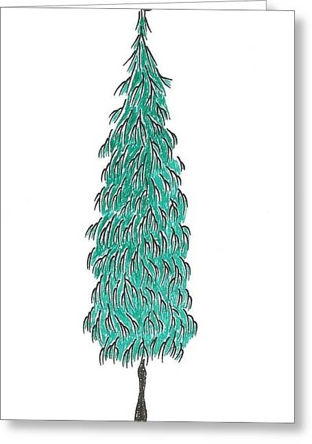 Christmas Tree 3 Greeting Card