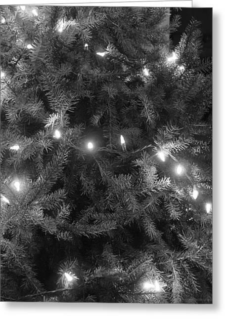 Christmas Tree Greeting Card by Anastasia Konn