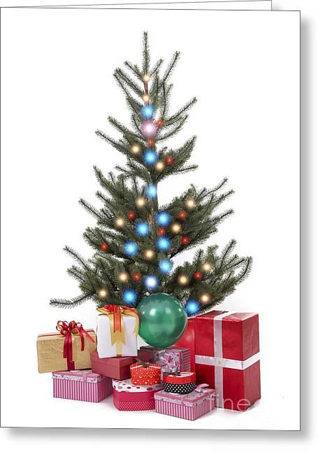 Christmas Tree  Greeting Card by Anek Suwannaphoom