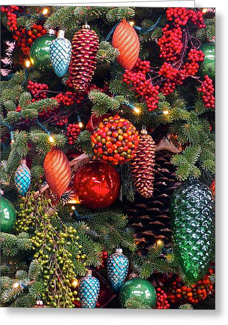 Christmas Tree Cheer Greeting Card by Byron Varvarigos