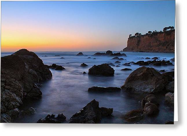 Christmas Tree Cove Greeting Card by Tom Dupee