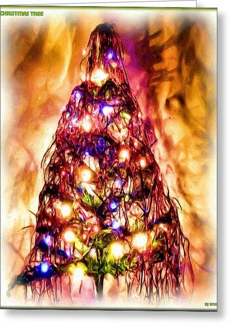 Greeting Card featuring the digital art Christmas Tree by Daniel Janda