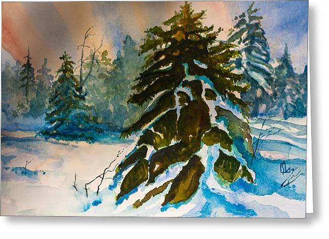 Christmas Tree Forest Greeting Card