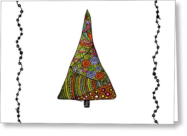 Christmas Tree From Patterns.vector Greeting Card