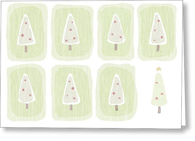 Christmas Tree Illustration Greeting Card by Daniel Sicolo