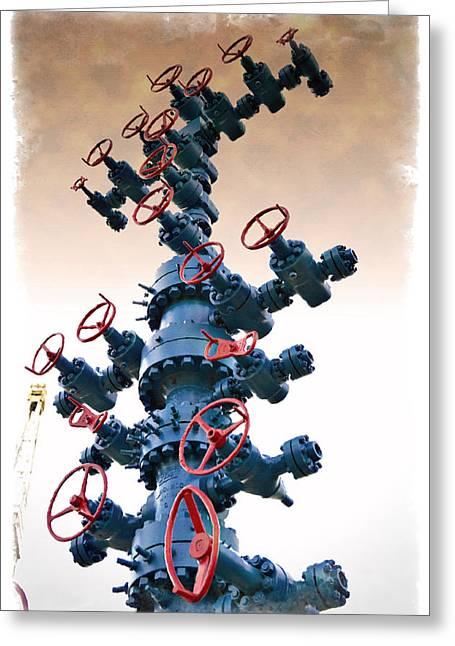 Christmas Tree - Impressions Greeting Card by Ricky Barnard