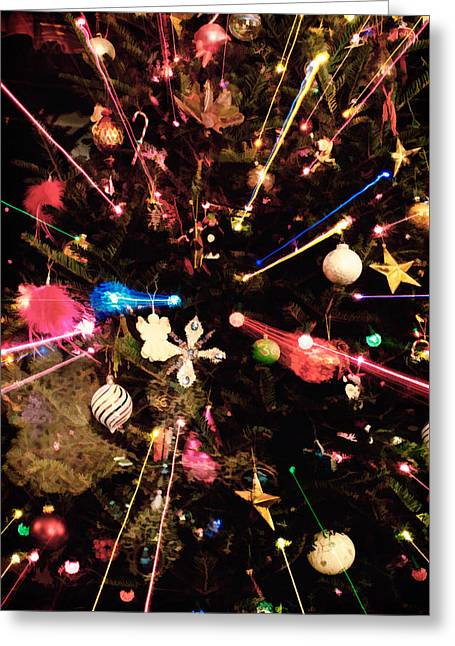 Greeting Card featuring the photograph Christmas Tree Lights by Vizual Studio