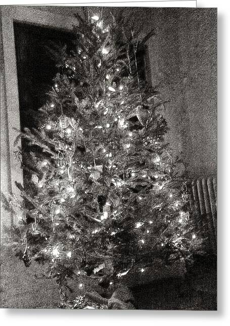 Christmas Tree Memories Monochrome Greeting Card
