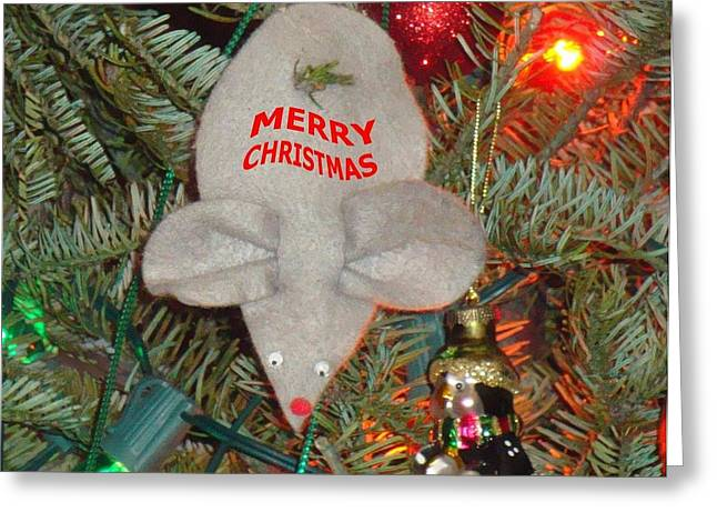 Greeting Card featuring the photograph Christmas Tree Mouse by Joseph Baril