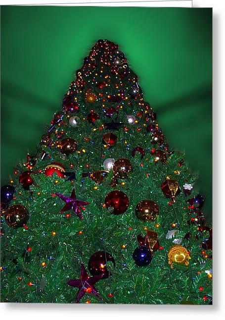 Christmas Tree Greeting Card by Thomas Woolworth