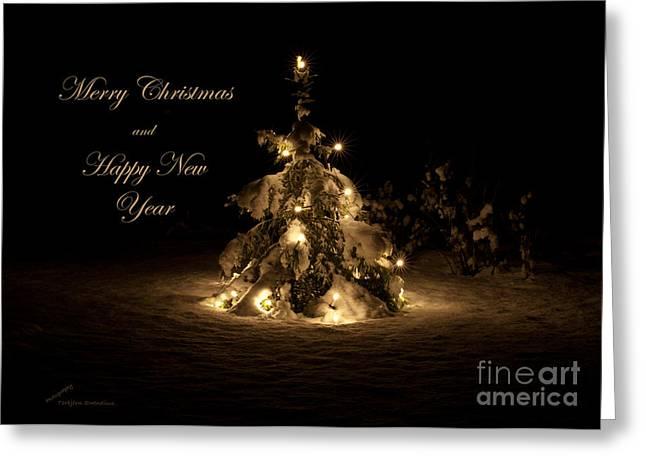 Christmas Tree Greeting Card by Torbjorn Swenelius