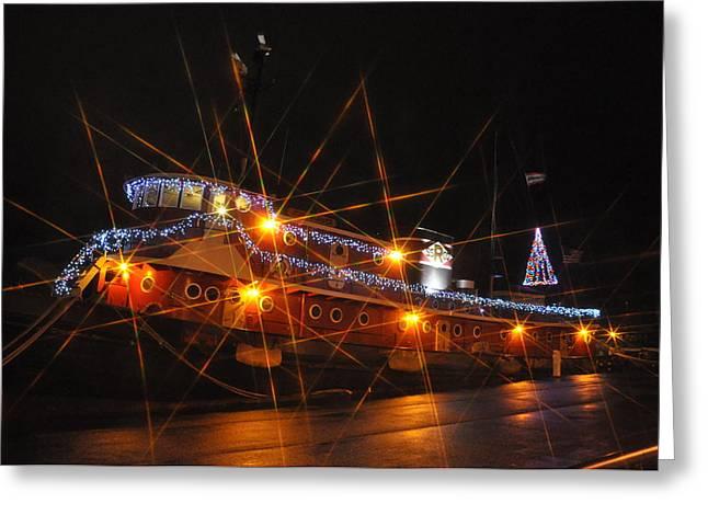 Christmas Tug Boat Greeting Card