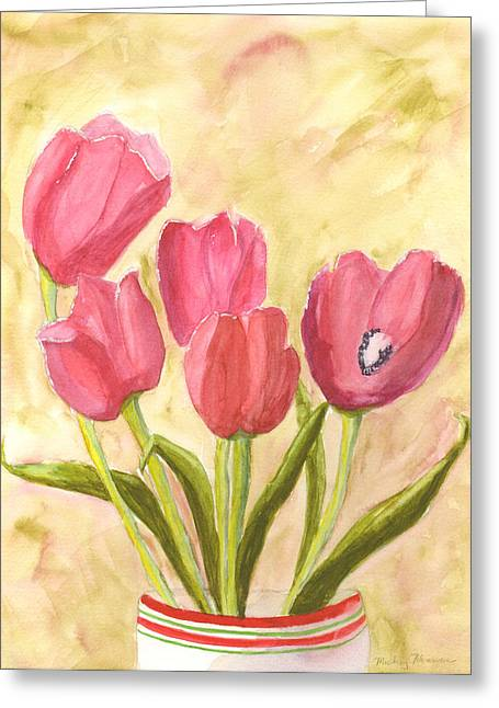 Tulip Time Greeting Card by Mickey Krause