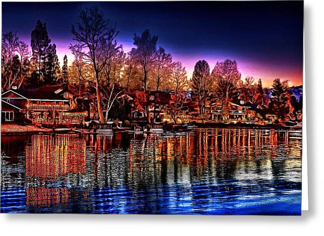 Christmas Twilight Greeting Card by Cary Shapiro